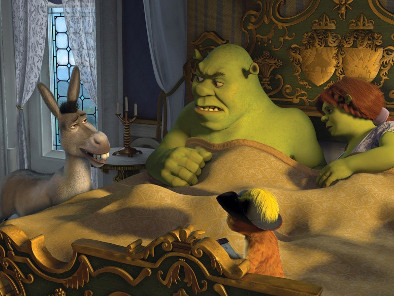 Puzzle Zbierać puzzle online - Shrek and Fiona