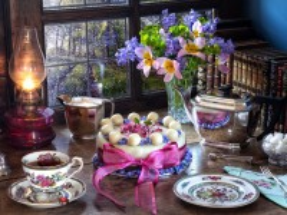 Собирать пазл Simnel cake онлайн