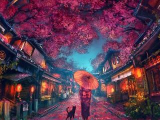 Собирать пазл Lilac twilight онлайн