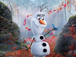 Собирать пазл Snowman and pet онлайн