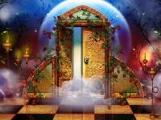 Собирать пазл A mysterious door онлайн