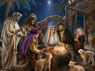 Собирать пазл Christmas sacrament  онлайн