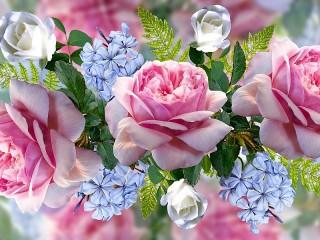 Собирать пазл Floral collage онлайн