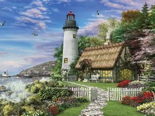 Собирать пазл Near the lighthouse онлайн