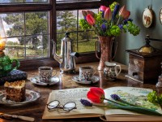 Собирать пазл Spring coffee онлайн