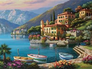 Собирать пазл Villa by the sea онлайн