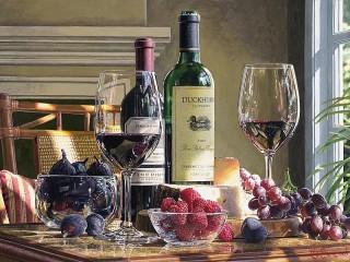 Собирать пазл Wine and berries онлайн