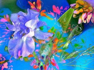 Собирать пазл Stained glass abstraction онлайн
