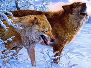 Собирать пазл Wolves 3 онлайн