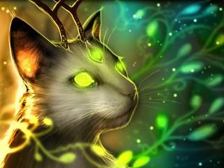 Собирать пазл Magic cat онлайн