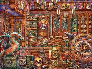 Собирать пазл Magic shop онлайн