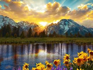 Собирать пазл Sunrise онлайн