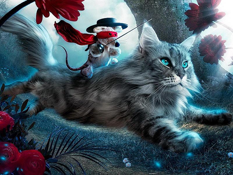 Puzzle Zbierać puzzle online - Vsadnik na kote