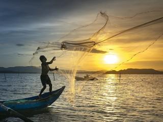 Собирать пазл Cast a net into the sea онлайн