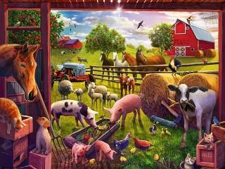 Собирать пазл Farm animals онлайн