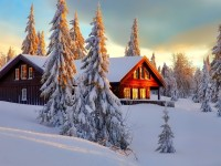 Собирать пазл Winter morning онлайн