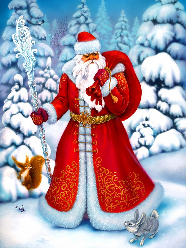 Puzzle Zbierać puzzle online - Father Frost